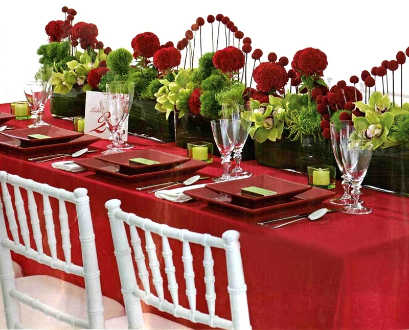Фото оформление цветами праздничного стола