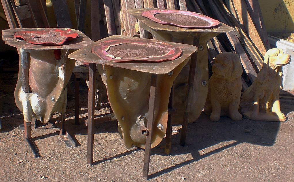 формы для садовых фигурок из бетона